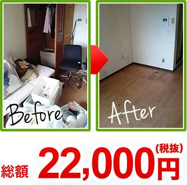 総額22,000円(税抜) case1のbeforeとafterの写真