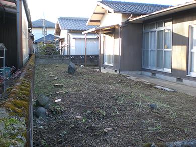 庭の掃除して綺麗になった風景